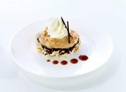 © Debic/FrieslandCampina Foodservice.  Popcornwaffel mit Salzkaramell