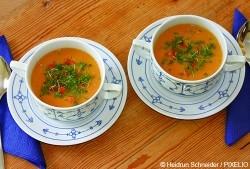 Möhren-Ingwer-Honig-Suppe - www.pixelio.de