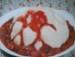Grießflammeri mit heißen Himbeeren picture