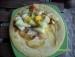 Apfelpfannenkuchen mit Obstsalat picture