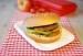 Hamburgerbrötchen mit Kräuterbutter und Salat picture