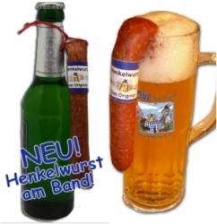 Henkelwurst jetzt auch für Flaschenbier erhältlich