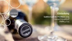 Das Weinland Südtirol präsentiert sich auf der ProWein 2013