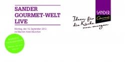 Sander Gourmet-Welt live