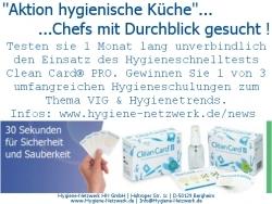 Aktion hygienische Küche – Chefs mit Durchblick gesucht