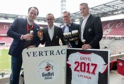 Gaffel bleibt für drei weitere Jahre die exklusive Kölsch-Marke beim 1. FC Köln