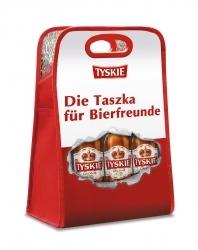 Bierkühltasche beim Kauf eines Tyskie-Kastens erhältlich