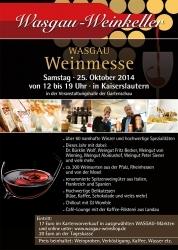 WASGAU Weinmesse 2014: 70 Aussteller aus den Bereichen Wein und Feinkost zugegen
