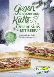 Winter-Aktionswochen bei Subway Sandwiches