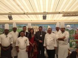 Indische Küche auf dem World Economic Forum in Davos