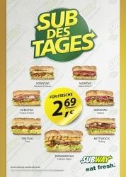 "2,69 Euro: Subway bringt ""Sub des Tages"" als dauerhaftes Angebot"