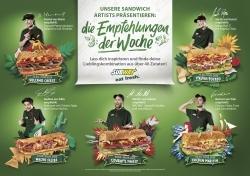 Subways Sandwich Artists stellen Empfehlungen der Woche vor