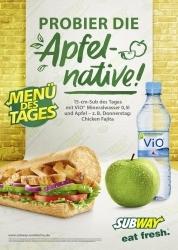 Subway-Menü des Tages ab sofort mit Apfel und Wasser erhältlich