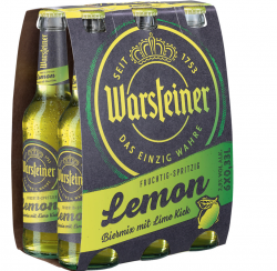 Warsteiner: Lemon Biermix kommt im neuen Gewand daher