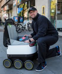 Futuristisch: Domino's setzt in Hamburg Lieferroboter ein