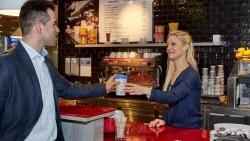 Nachhaltig: Flughafen Frankfurt präsentiert Bambus-Becher für Heißgetränke