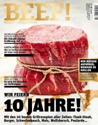 10 Jahre Genuss: Jubiläumsausgabe des Magazins Beef! erscheint