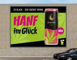 Hanf-Drink: 28 Black wirbt für Produktneuheit