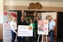 Die Lohner's: Bäckerei spendet 17.000 Euro an die Kinderkrebshilfe