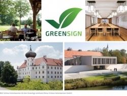 GreenSign: Hotel Schloss Hohenkammer wurde nachhaltig zertifiziert