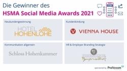 HSMA Social-Media Award 2021: Vier Hotels wurden ausgezeichnet