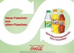 Coca-Cola: Kernmarken werden in Flaschen aus 100% recyceltem PET verkauft