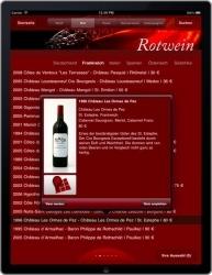 iPad Weinkarte im Restaurant Duke